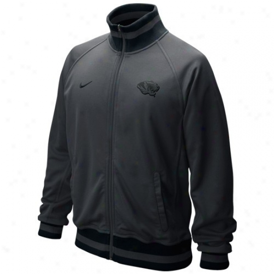 Nike Missouri Tigers Graphite Full Zip Collegiate Fast Track Jacket
