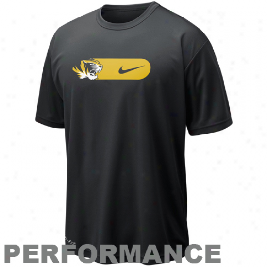Nike Missouri Tigers Heavy-lifting Legend Performance T-shirt - Black