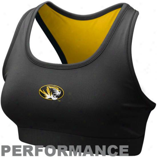 Nike Missouri Tigers Ladies Black Dri-fit Performance Sports Bra