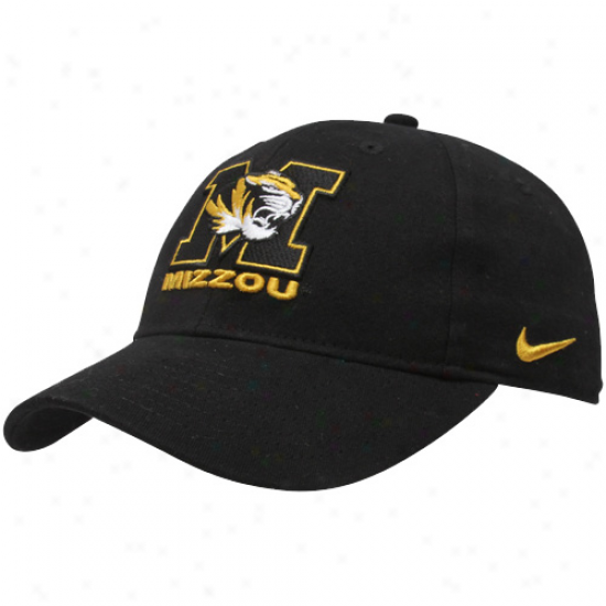 Nie Missouri Tiger sYouth Black Classic Adjustable Hat