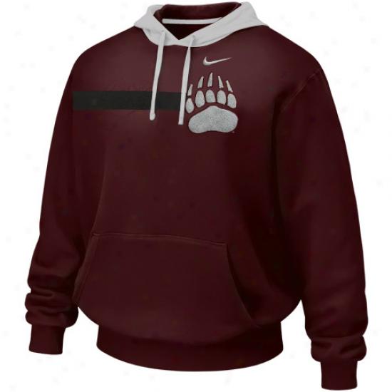 Nike Montana Grizzlies Maroon Bump 'n Run Hoodie Seeatshirt
