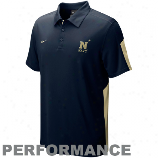 Nike Navy Midshipmen Navy Blue Sphere Performance Polo