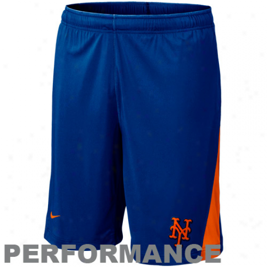 Nike New York Mets Authentic Collection Dri-fit Performance Training Shorts - Royal Blue