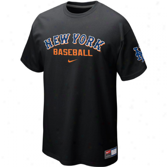 Nike New York Mets Away Prcatice T-shirt - Black