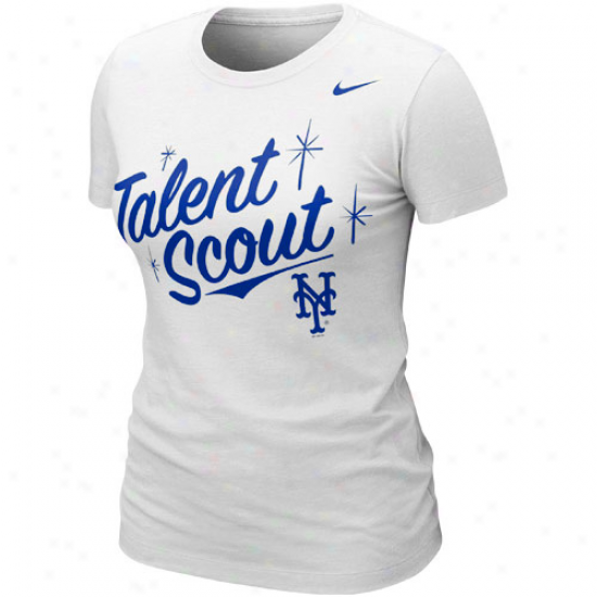 Nike New York Mets Ladies Mbl Attitude T-shirt - Pure