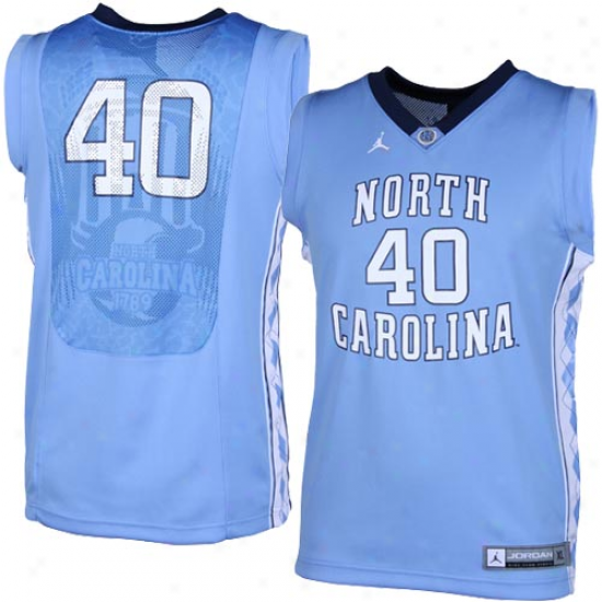 Nike North Carolina Tar Heels (unc) #40 Youth Elite Re0lica Basketball Jersey - Carolina Blue