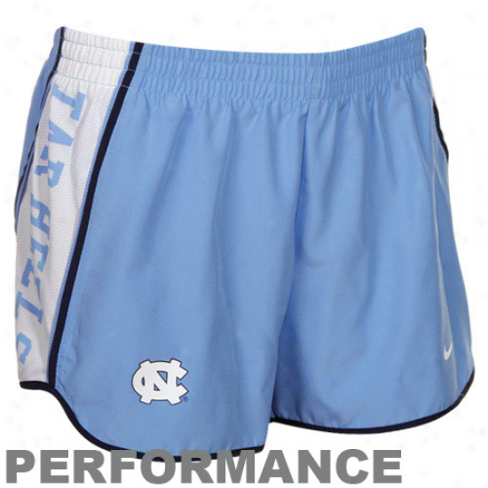 Nike North Carolina Tar Heels (unc) Carolina Blue Pacer Performanfe Shorts