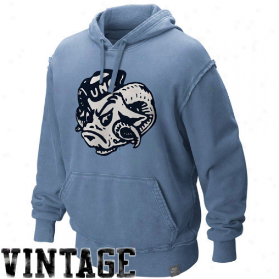 Nike North Carolina Tar Heels (unc) Carolina Blue Vault Vintage Washed Organic Pullover Hoody Sweatshirt
