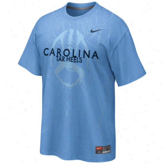 Nike North Carolina Sailor Heels (unc) Footall Practice T-hsirt - Carolina Blue