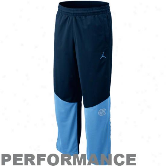 Nike North Carolina Tar Heels (unc) Navy Blue--light Melancholy Jordan Elite Performance Game Pants