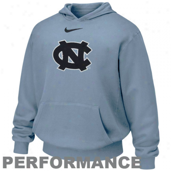 Nike North Carolina Tar Heels( unc) Youth Carolina Blue Therma-fit Performance Pullover Hoody Sweatshirt