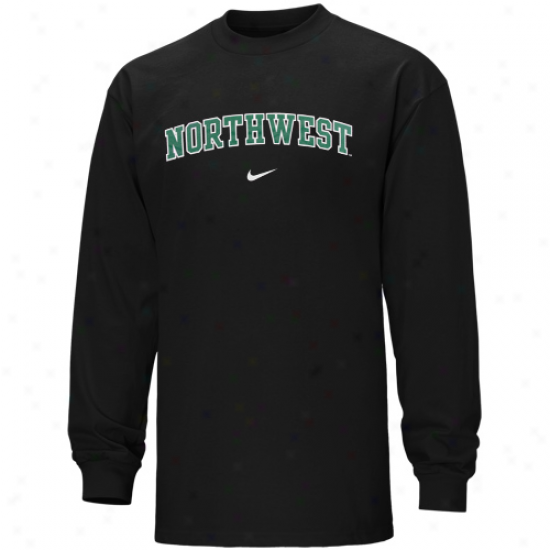 Nike Northwest Missouri State Universoty Bearcats Vertical Arch Long Sleeve T-shirt - Dismal