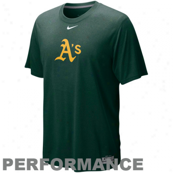 Nike Oakland Athletisc Green Dri-fit Logo Legend Performance T-shirt