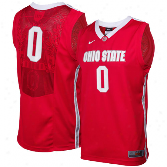 Nike Ohio State Buckeyes #0 Youth Elite Replica Basketball Jersey - Scarlet