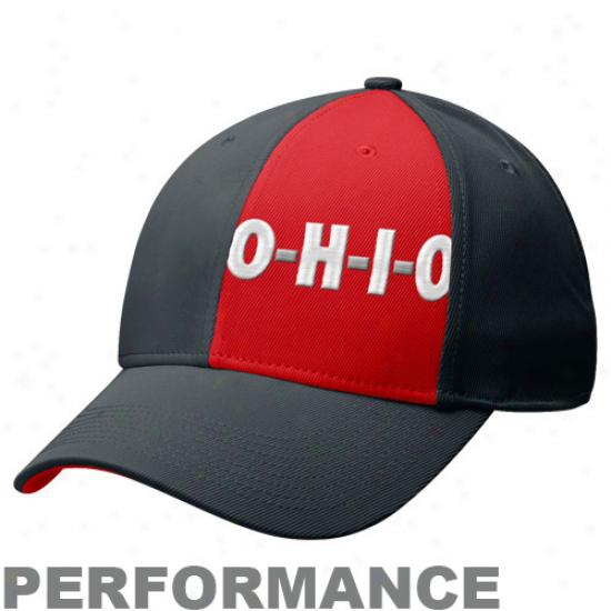 Nike Ohio State Buckeyes Dark O-h-i-o Legacy 91 Swoosh Performance Flex Hat