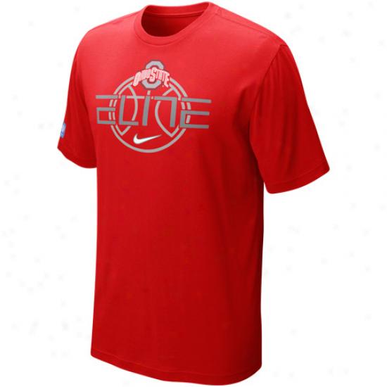 Nike Ohio State Buckeyes Elite Focuz T-shirt - Scarlet