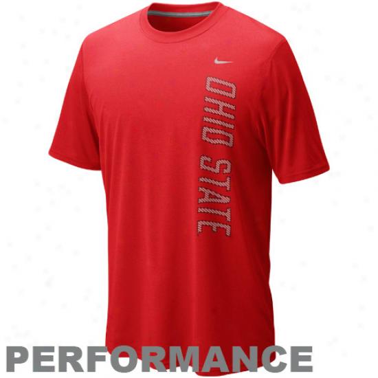 Nike Ohio Srate Buckeyes Grzphic Legend Performance T-shlrt - Scarlet