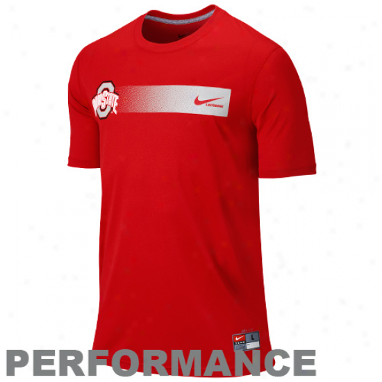 Nike Ohio State Buckeyes Lacrosse Legend Performance T-shirt - Scarlet