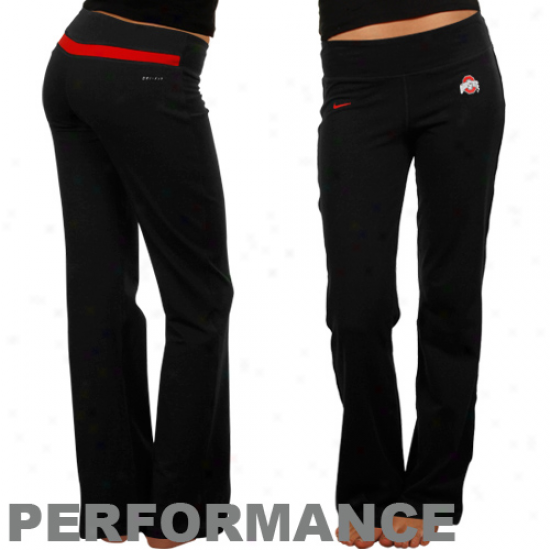 Nike Ohio State Buckeyes Ladies Black Be Strong Performance Panst