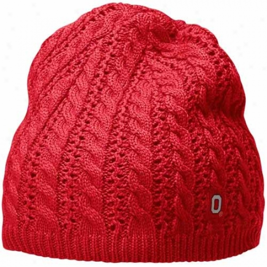 Nike Ohio State Buckeyes Ladies Scarlet Cable Knit Beanie