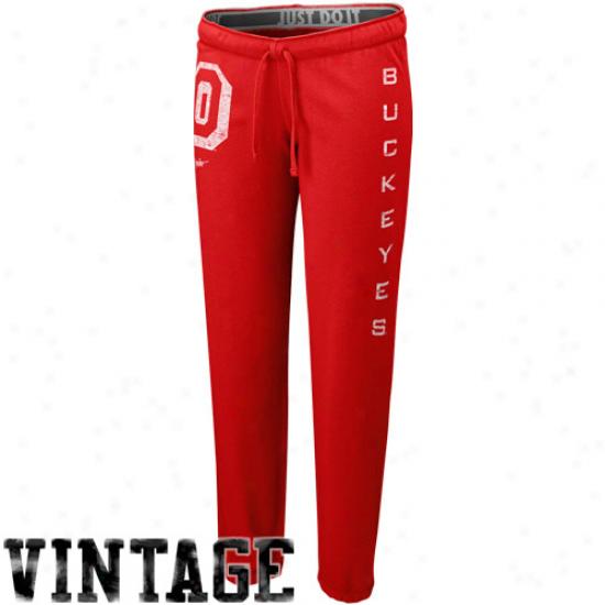 Nike Ohio State Buckeyes Ladies Scarlet Tumble Sweatpants