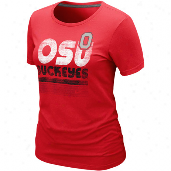Nike Ohio State Buckeyes Ladies Sunny Day T-shirt - Scarlet