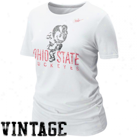 Nike Ohio State Buckeyes Ladies Vault T-shirt - White