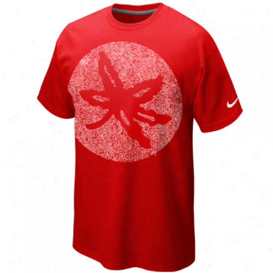 Nike Ohio State Buckeyes Premium Logo Is Art T-shirt - Red