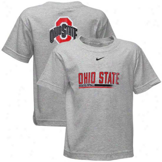 Nike Ohio State Buckeyes Prescjool Ash Practice T-shirt