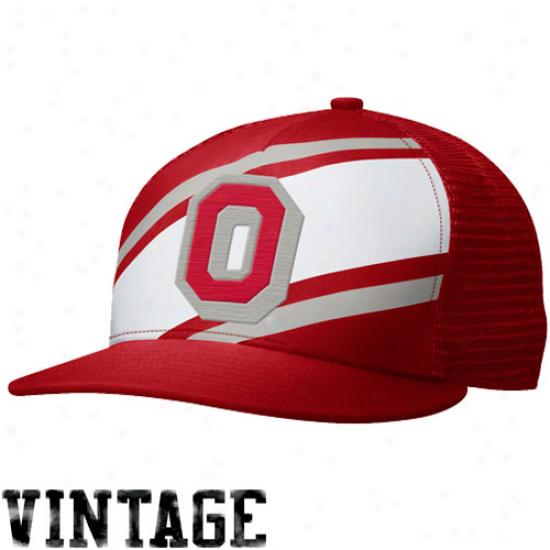Nike Ohio State Buckeyes True Retro Snapback Hat - Scarlet/white