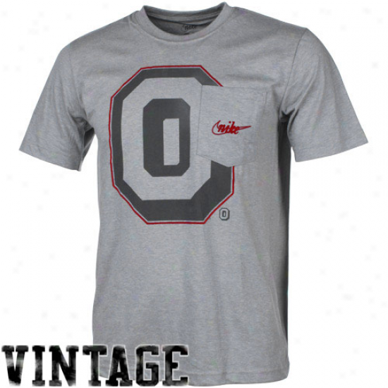 Niks Ohio National Buckeyes Vault Big Timer Pocket Tri-blnd T-shirt - Ash