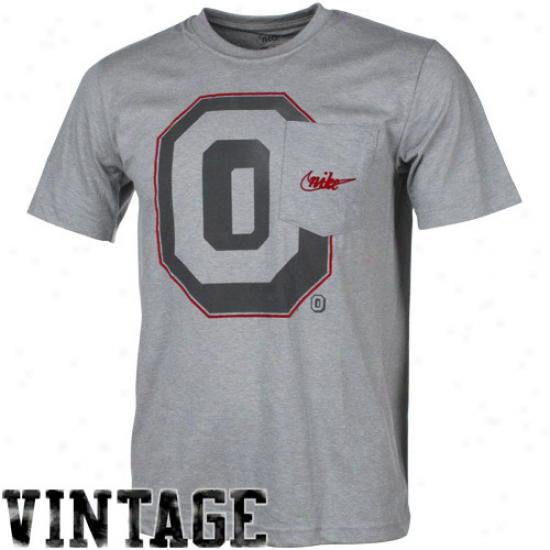 Niks Ohio National Buckeyes Vault Big Timer Pocket Tri-blnd T-shirt - Ash