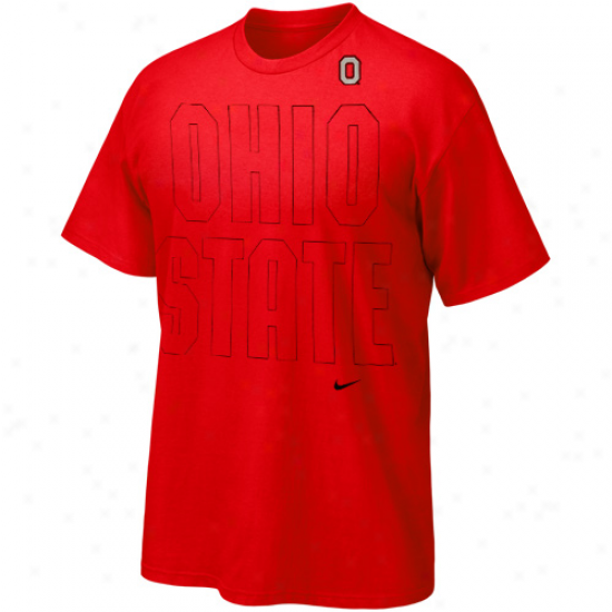 Nike Ohio State Buckeyes Youth Graphic Outline T-shirt - Scarrlet