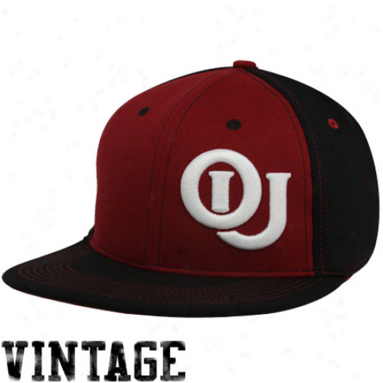 Nike Oklahoma Sooners Crimson-black Vault Color Anecdote Swoosh Flex Hat