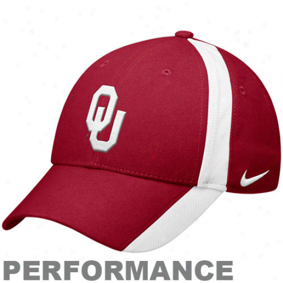 Nike Oklahoma Sooners Crimson Coaches Legacy 91 Adjustablw Performance Hat