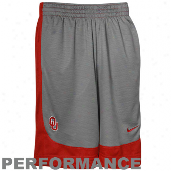 Nike Oklahoma Sooners Gray-crimson Reversible Performance Basketball Shorts