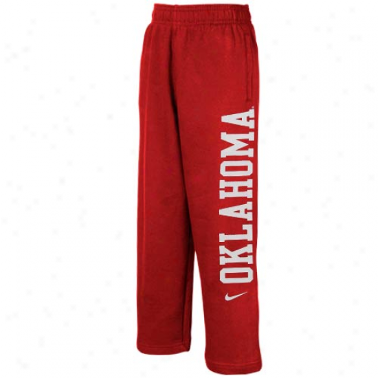Nike Oklahoma Sooners Preschool Crimson Fleece Sweatpants