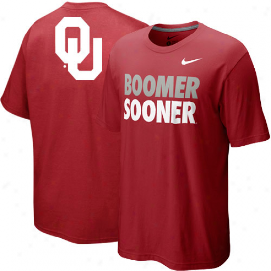 Nike Okalhoma Sooners Preschool Local T-shirt - Crimson
