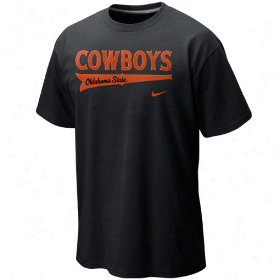 Nike Okllahoma State Cowboys Cotton Grapuc T-shirt - Black
