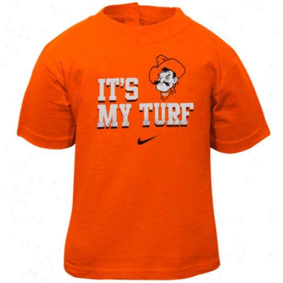 Nike Oklahoma State Cowboys Infant ''it'w My Turf'' T-shirt-orange