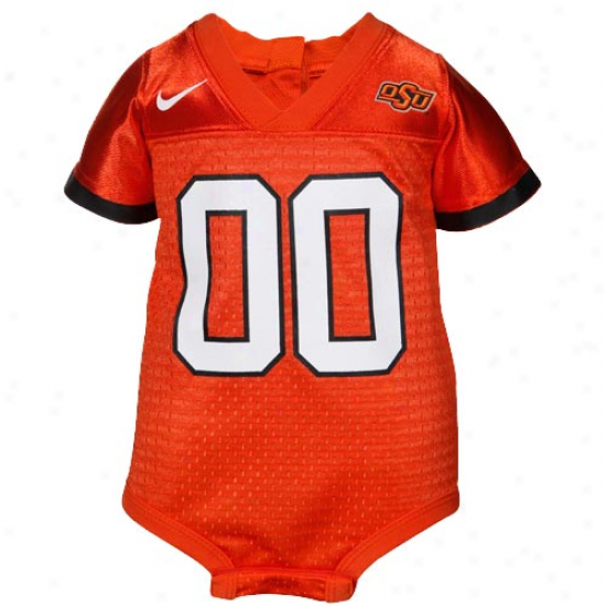 Nike Oklahoma State Cowboys Infant Orange Football Jersey Creeper