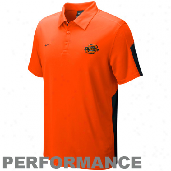 Nike Oklahoma State Cowboys Orange Sphere Performance Polo