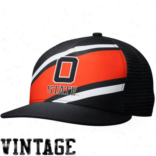 Nike Oklahoma State Cowboys True Retro Snapback Hat - Orange/black