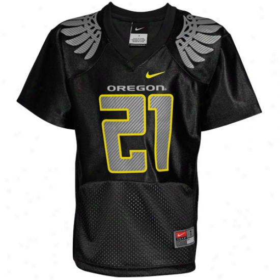 Nike Oregon Ducks #21 Preschool Replica Football Jersey - Black