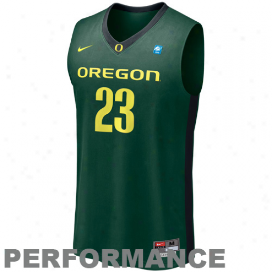 Nike Oregon Ducks #23 Aerographic Tackle Twill Basketball Performance Jersey - Green