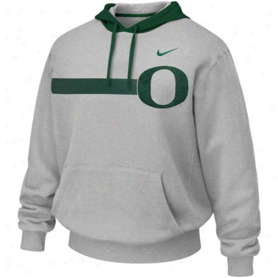 Nike Oregon Ducks Ash Bump 'n Run H0odie Sweatshirt