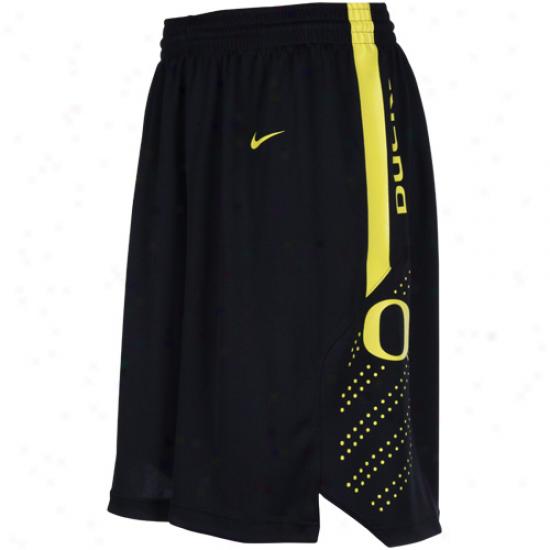 Nike Oregon Ducks Black Replica Mesh Player Bzksetball Shorts