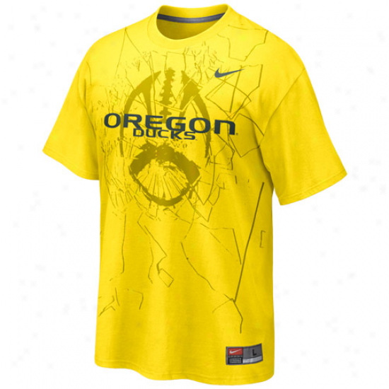 Nike Oregon Ducks Football Practice T-shirt - Gold