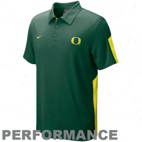 Nike Oregon Ducks Green Sphere Perrformance Polo
