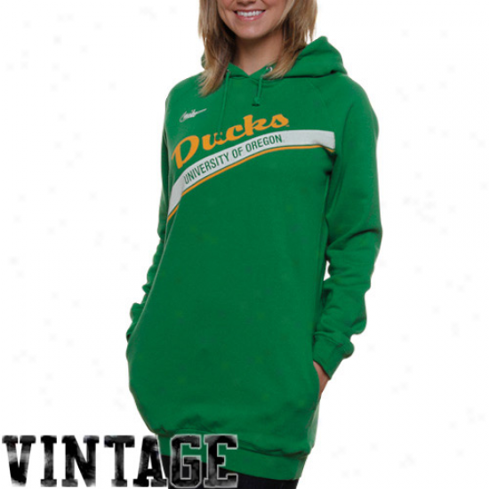 Nike Oregon Ducks Ladies Green Vajlt Boyfriend Long Pullkver Hoodie Sweatshirt